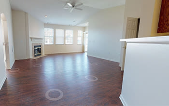 Virtual tour of a three bedroom apartment at Webster Green in Webster, New York