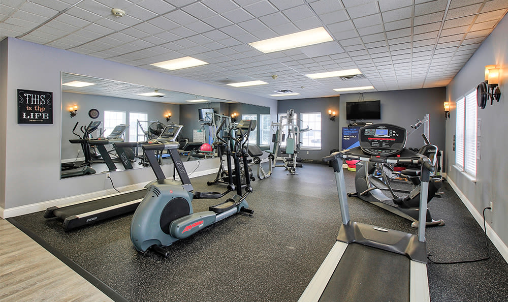 Fitness center at Westview Commons Apartments in Rochester, New York