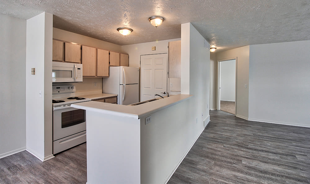 Kitchen at Westview Commons Apartments in Rochester, New York