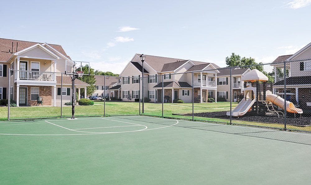 Basketball court at Westview Commons Apartments in Rochester, New York
