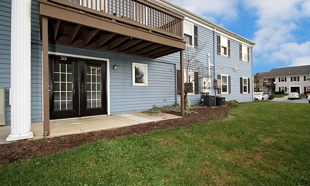 Balcony and patio area at The Village of Laurel Ridge & The Encore Apartments & Townhomes in Harrisburg, Pennsylvania