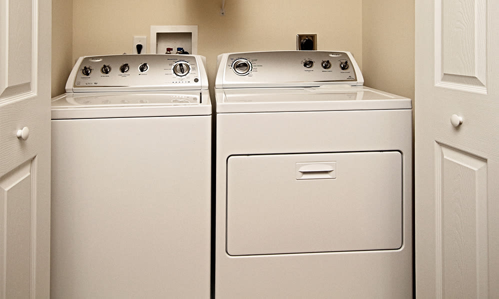 Laundry area at The Village of Laurel Ridge & The Encore Apartments & Townhomes in Harrisburg, Pennsylvania