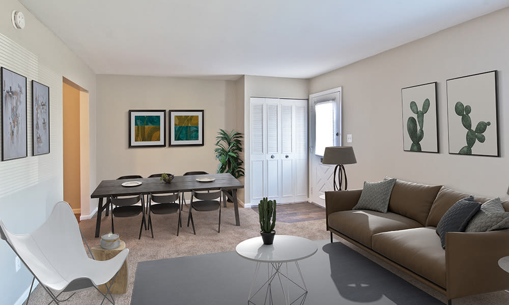 Spacious living area at The Summit at Ridgewood in Fort Wayne, Indiana