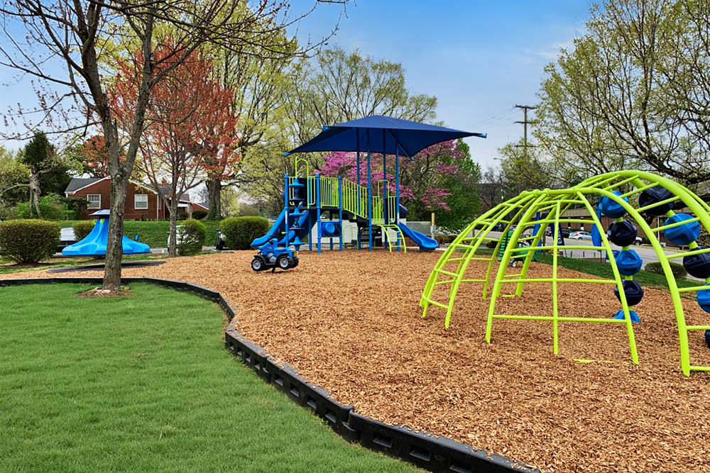 State-of-the-art playground at apartments in Nashville, Tennessee