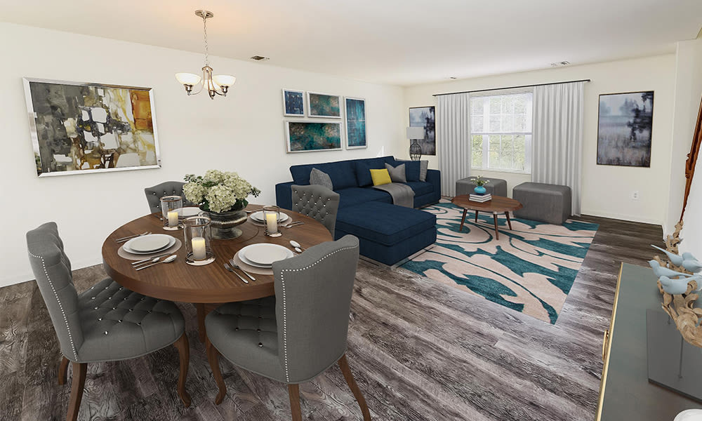 Living Room at Mews at Annandale Townhomes in Annandale, New Jersey