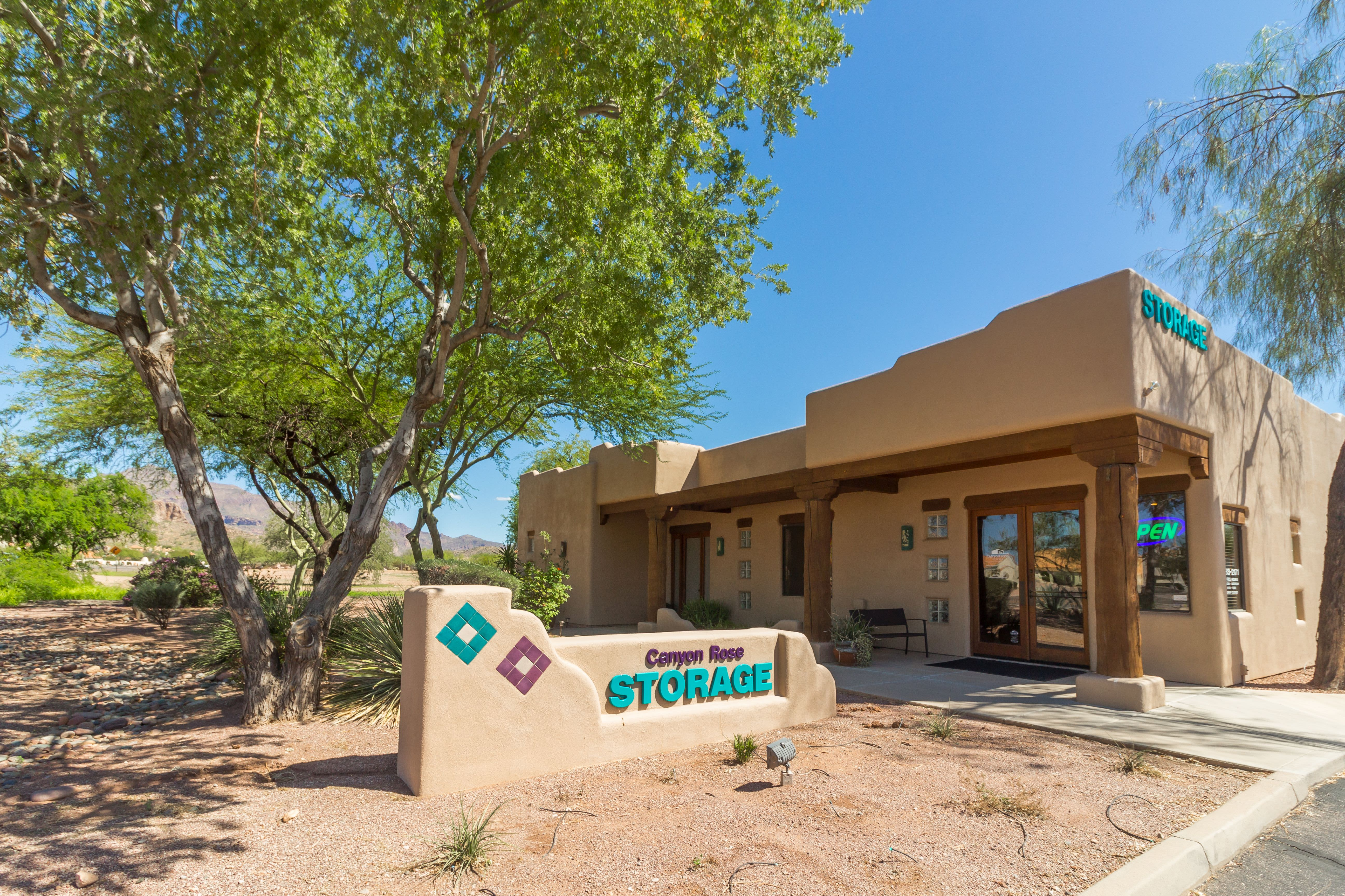 Self storage for all of your needs at Canyon Rose Storage in Gold Canyon, Arizona