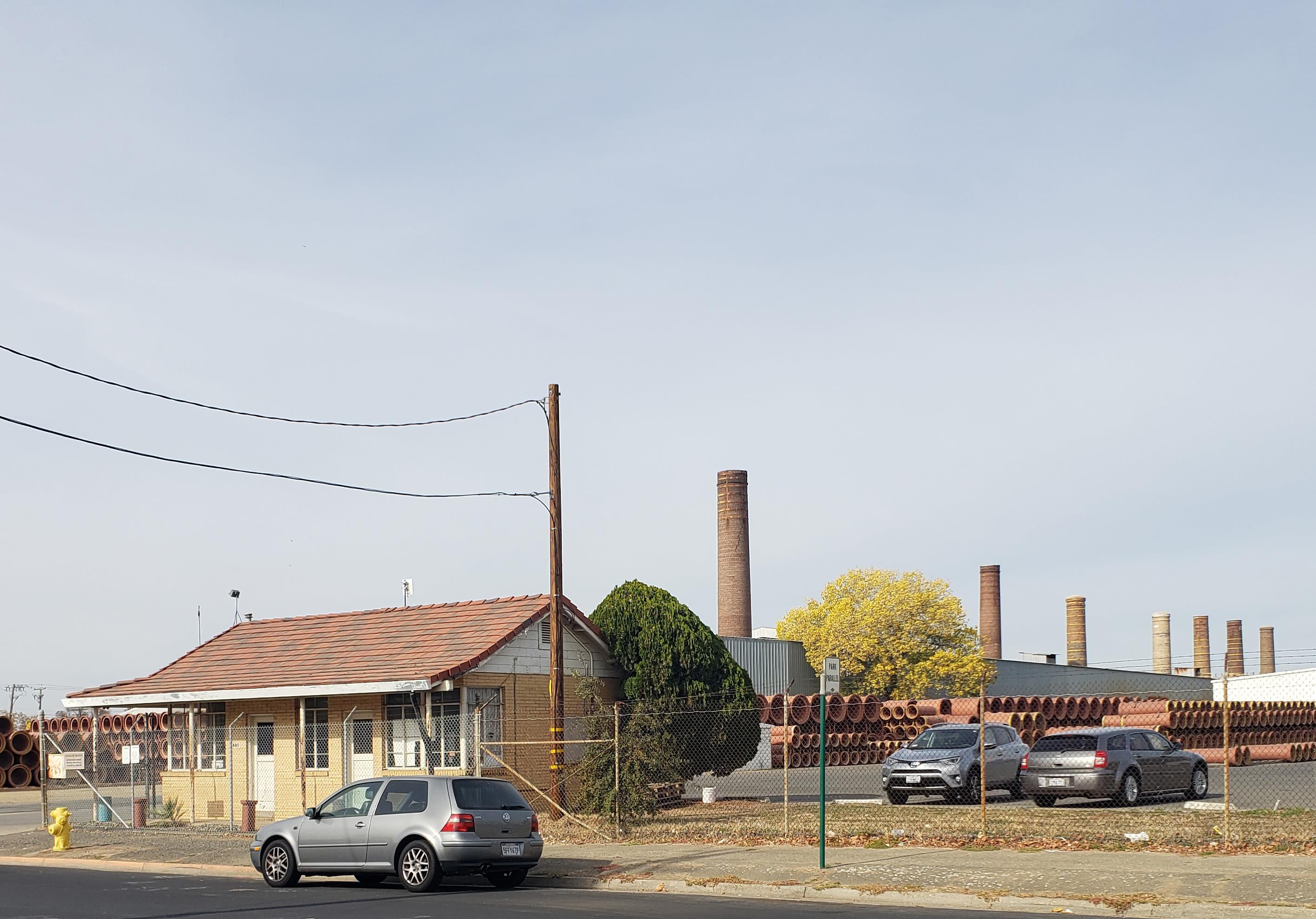 Gladding McBean Smoke Stack Lincoln California