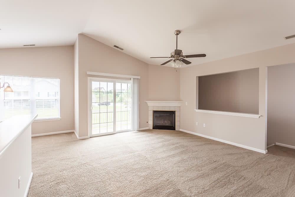 Open floor plan space at Oakmonte Apartments home in Webster, New York