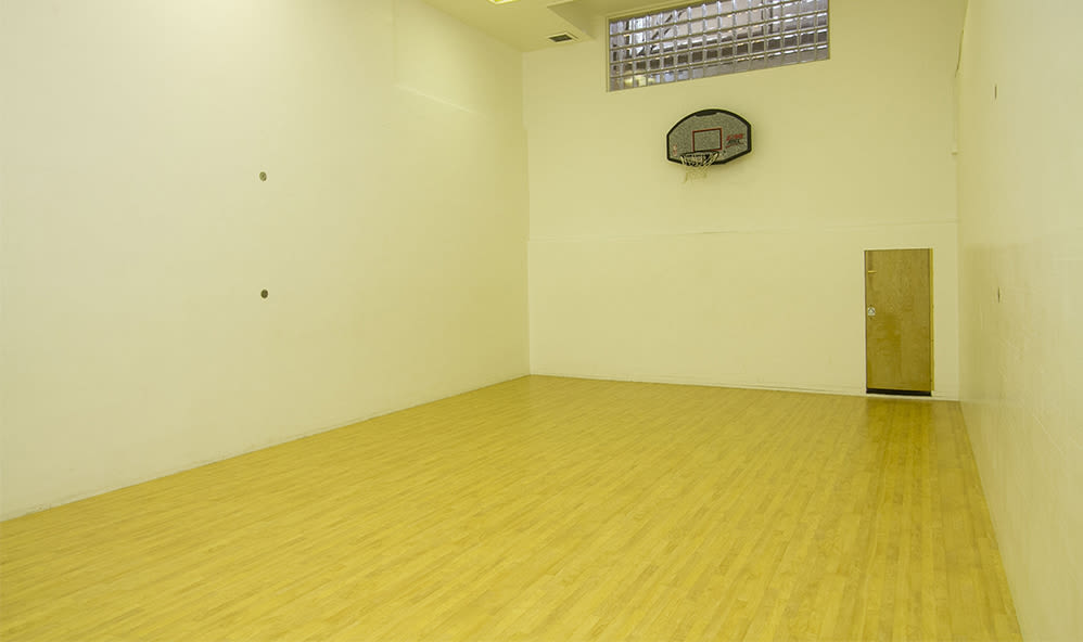 Indoor basketball court at Raintree Island Apartments in Tonawanda, New York