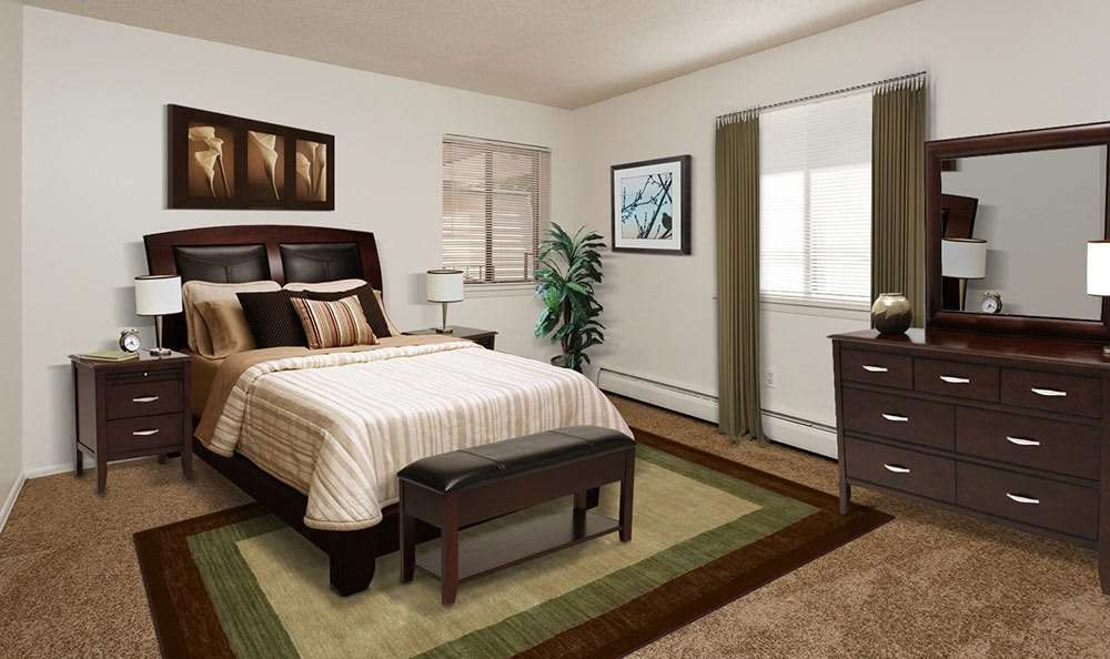 Parkway Manor Apartments offers a luxury bedroom in Irondequoit, New York