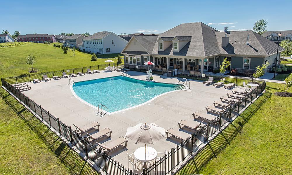 Resort-style swimming pool at Preserve at Autumn Ridge in Watertown, New York