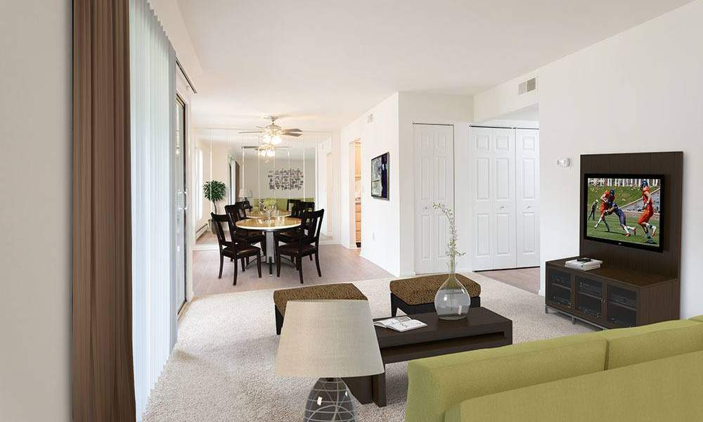 Ample living space at Steeplechase Apartments in Camillus, New York