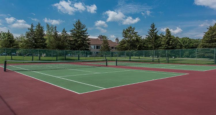 A couple of Tennis courts at Steeplechase Apartments in Camillus, New York