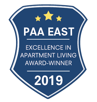 PAA East Excellence in Apartment Living Award Winner 2019