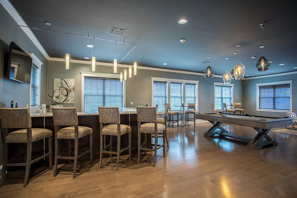 Clubhouse interior at The Landings at Meadowood in Baldwinsville, New York