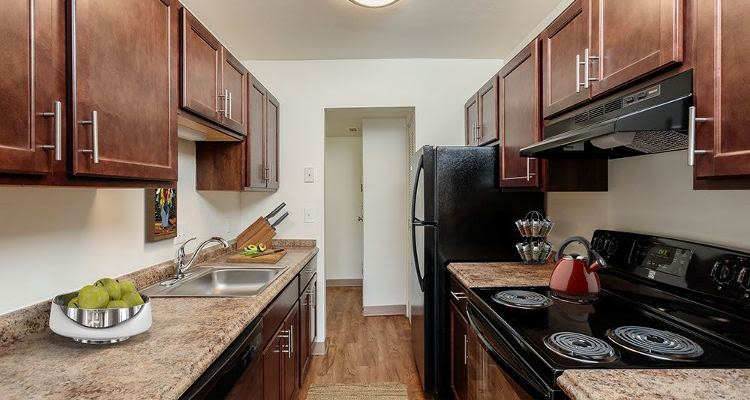 Upgraded kitchen at The Meadows Apartments in Syracuse, New York