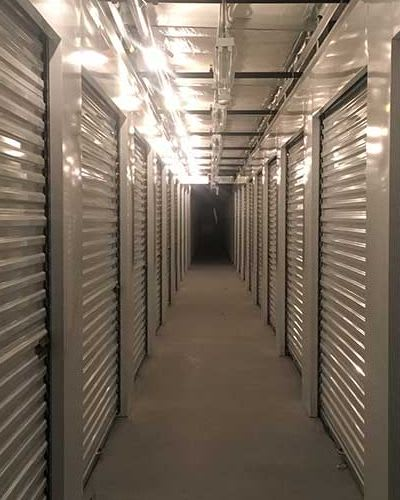 Clean and illuminated units at Towne Storage in Henderson, Nevada