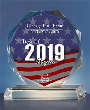 Carriage Inn Bryan is a 2019 Best of Bryan Awards in the category of Retirement Community