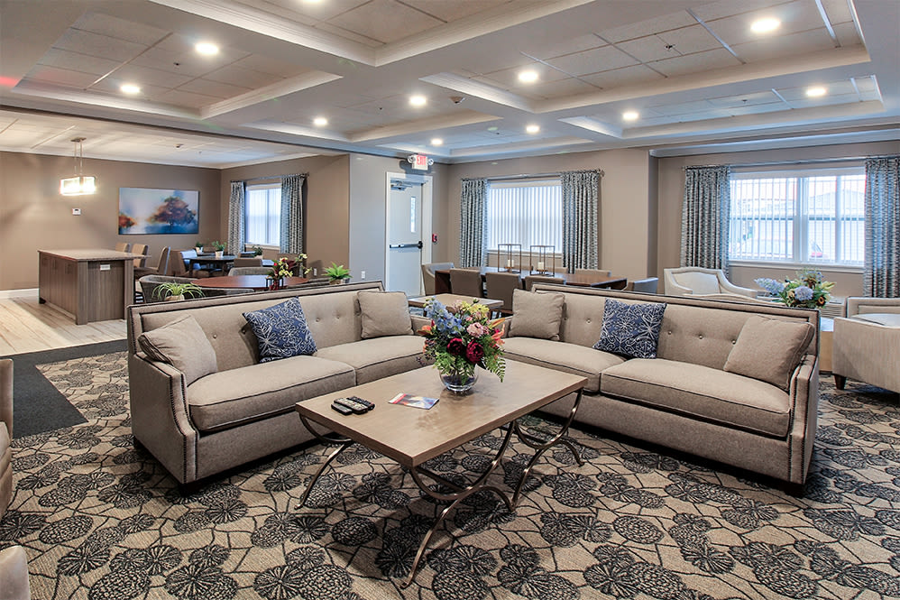 Modern clubhouse at Villa Capri Senior Apartments in Rochester, New York
