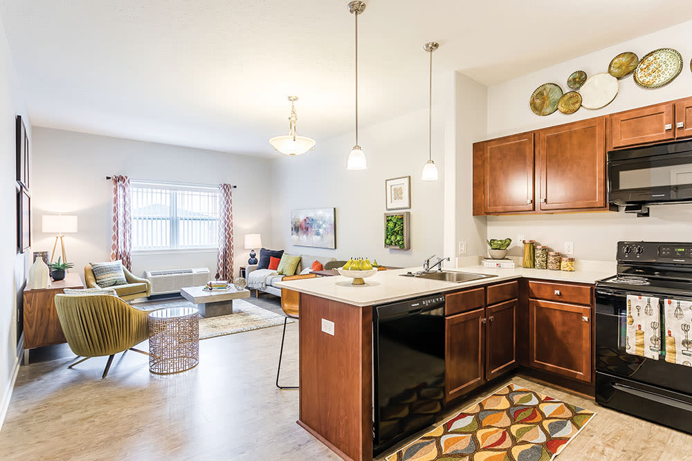 Enjoy an upgraded kitchen at Villa Capri Senior Apartments in Rochester, New York