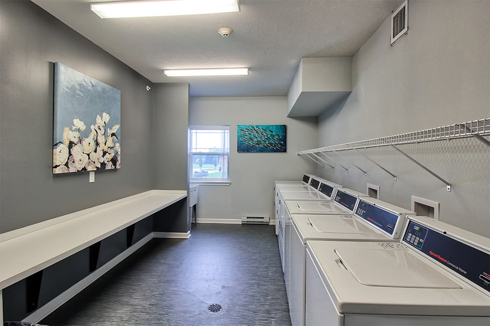 Villa Capri Senior Apartments in Rochester, New York showcase a beautiful laundry facility