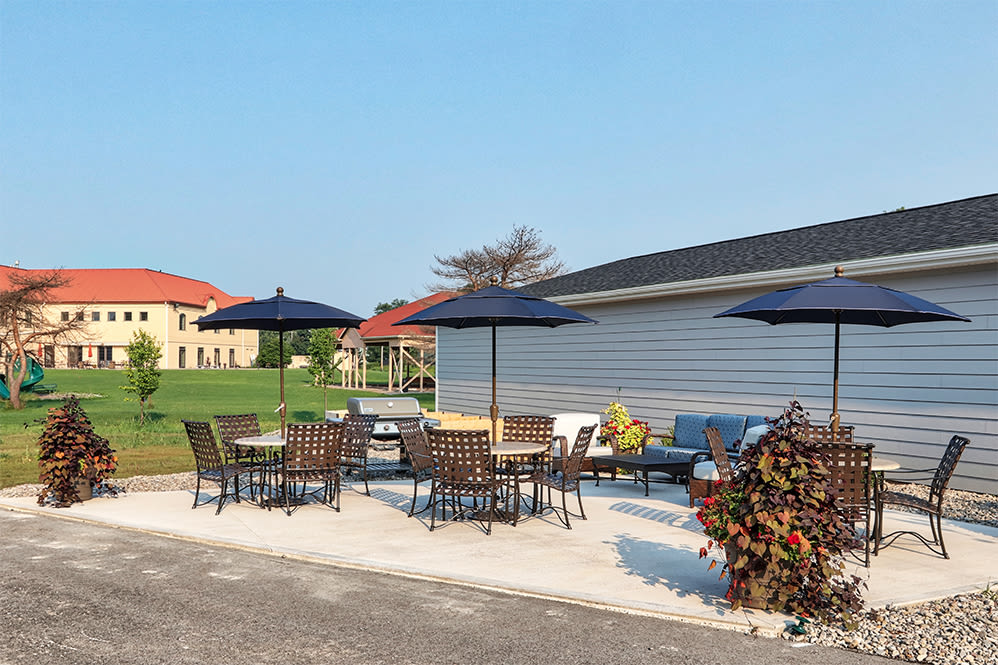 Picnic area at Villa Capri Senior Apartments in Rochester, New York