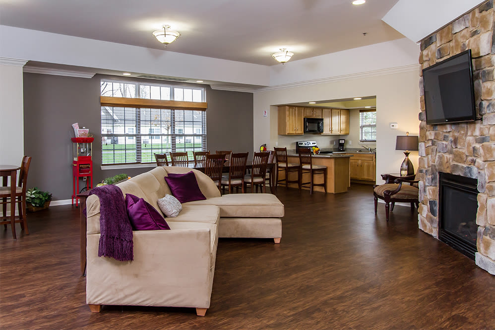 Clubhouse interior at Regency & Victor Villas Apartments in Victor, New York