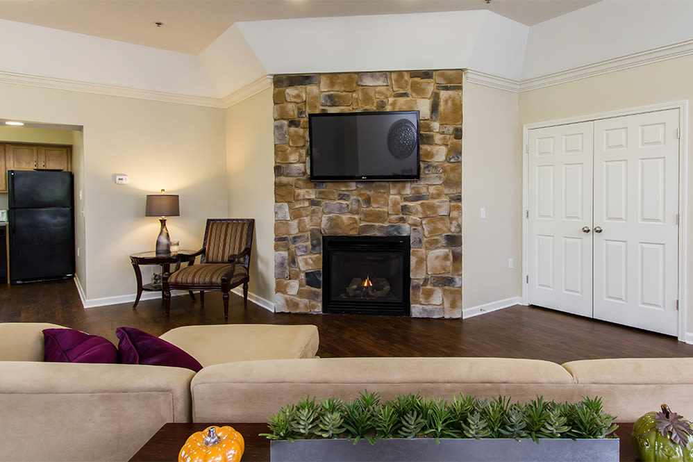 Regency & Victor Villas Apartments offers a luxury living room in Victor, New York