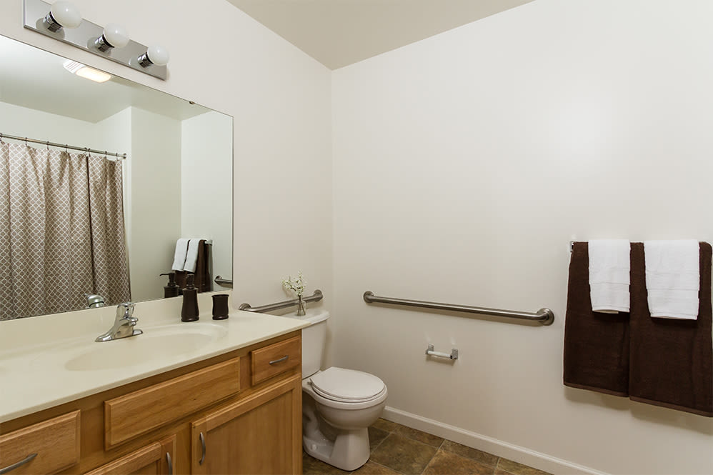 Ample bathroom at Regency & Victor Villas Apartments in Victor, New York