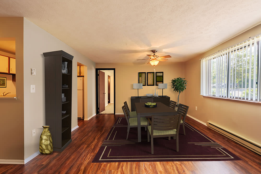 Spacious dining room at Westpointe Apartments in Pittsburgh, Pennsylvania