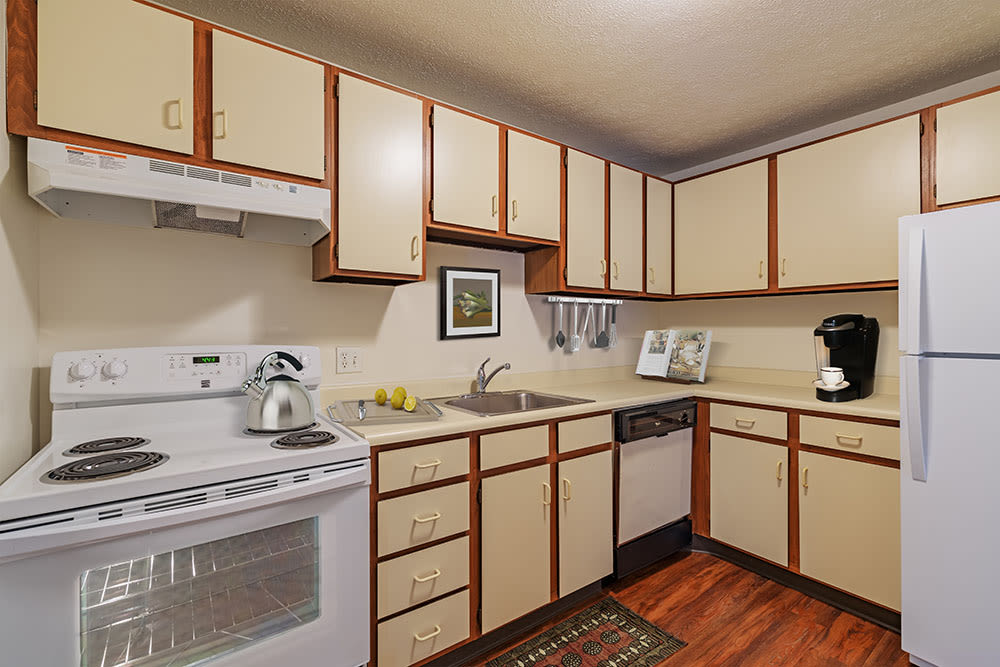 Beautiful kitchen at Westpointe Apartments in Pittsburgh, Pennsylvania