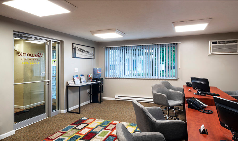 Leasing office at Westpointe Apartments in Pittsburgh, Pennsylvania