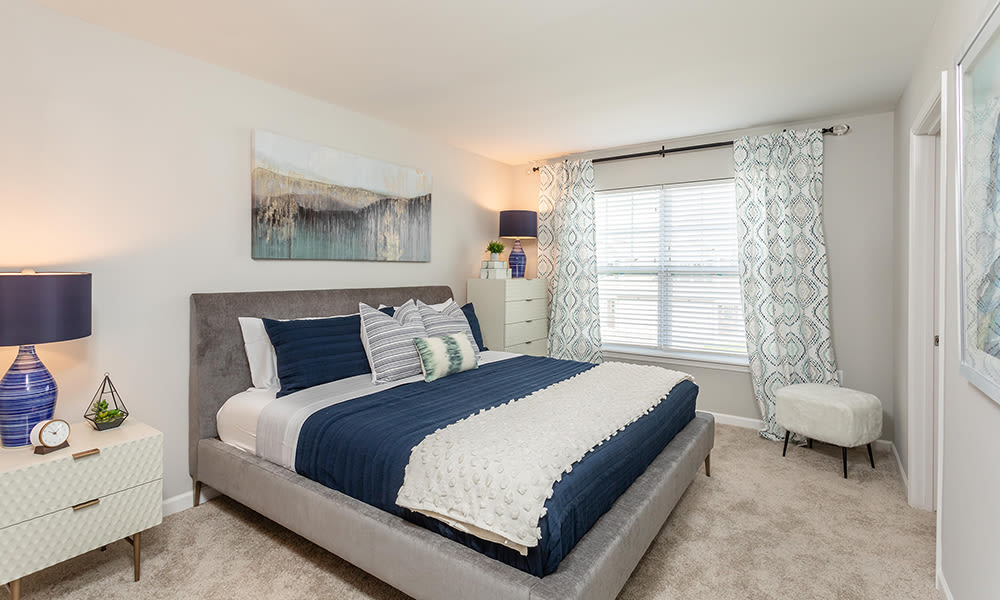 Bedroom at Woodland Acres Townhomes in Liverpool, New York