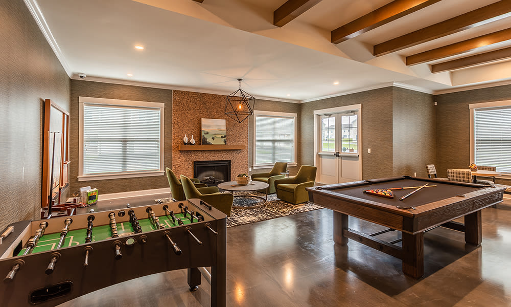 Game room at Woodland Acres Townhomes in Liverpool, New York