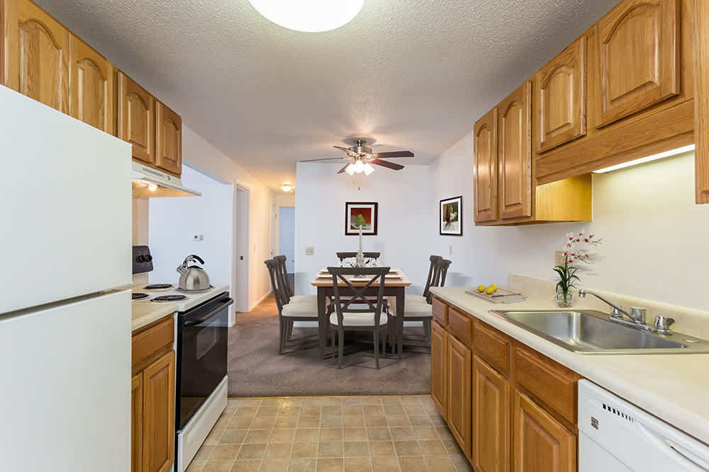 Luxury kitchen at Perinton Manor Apartments in Fairport, New York