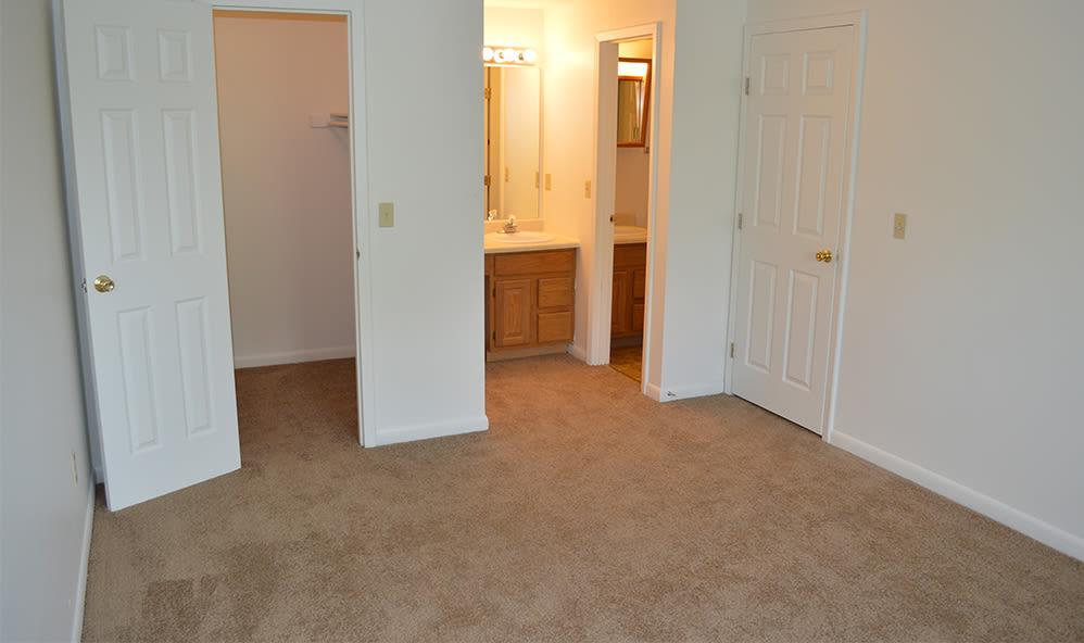 Closet in bedroom at Riverton Knolls home in West Henrietta, New York