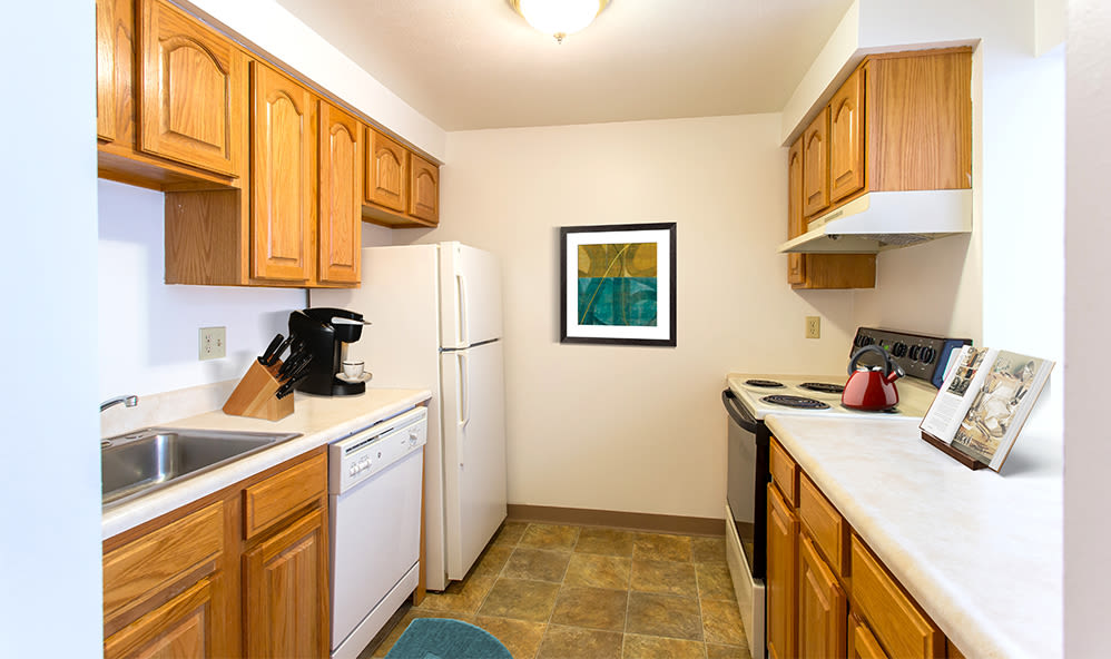 Bright, well equipped kitchen at Riverton Knolls home in West Henrietta, New York