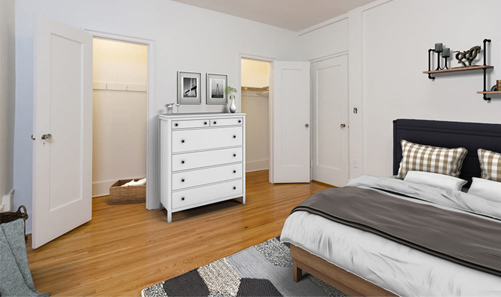 Bedroom at Westminster Apartments in Rochester, New York