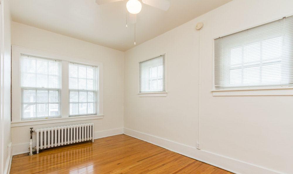 Hardwood floors at Carlton apartments in Rochester, New York