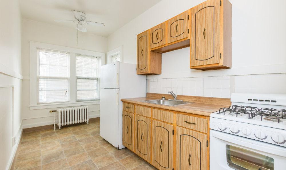 Kitchen at Carlton apartments in Rochester, New York