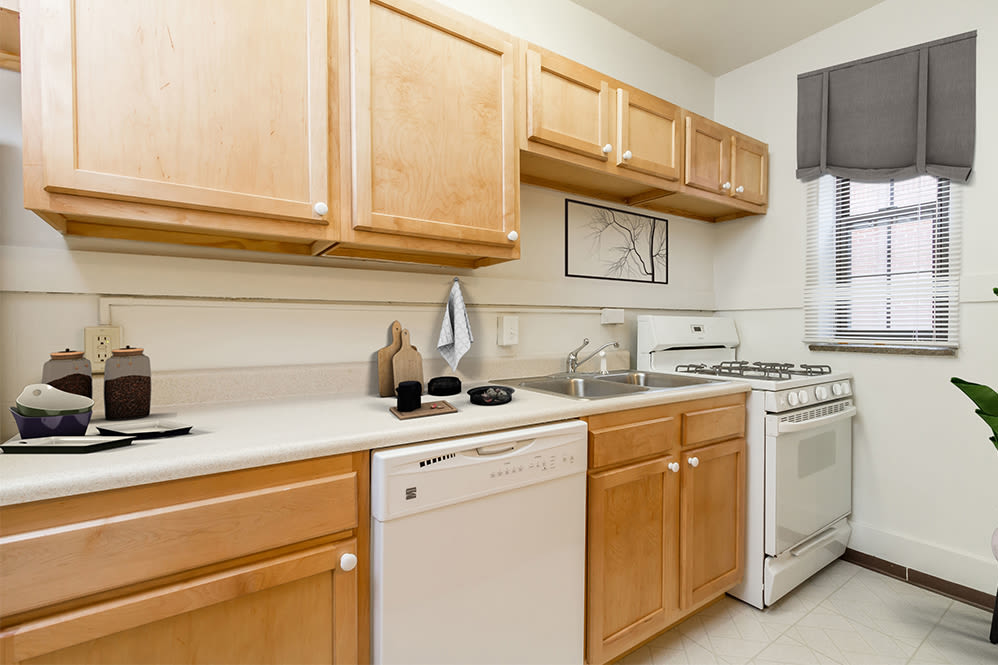 Kitchen at Westminster and Amherst Apartments in Rochester, New York