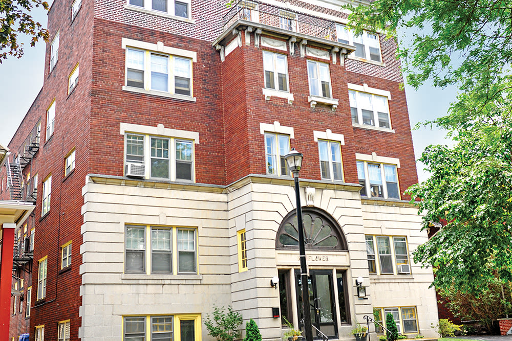 Exteriors of Mayflower Apartments in Rochester New York