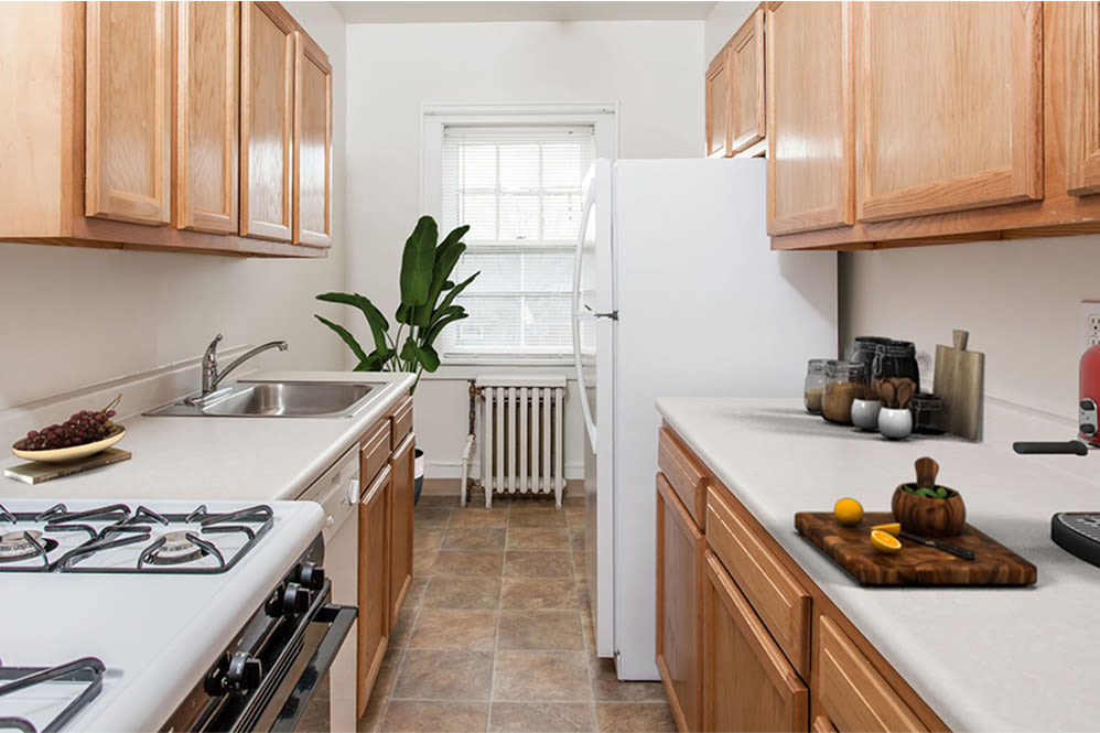 Kitchen at Barrington Apartments in Rochester, New York