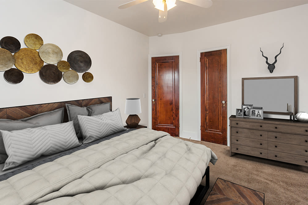 Open floor plan in apartment at Barrington Apartments in Rochester, New York