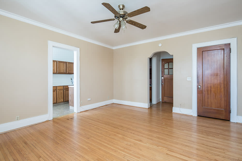 Hardwood floors at East Avenue Apartments in Rochester, New York