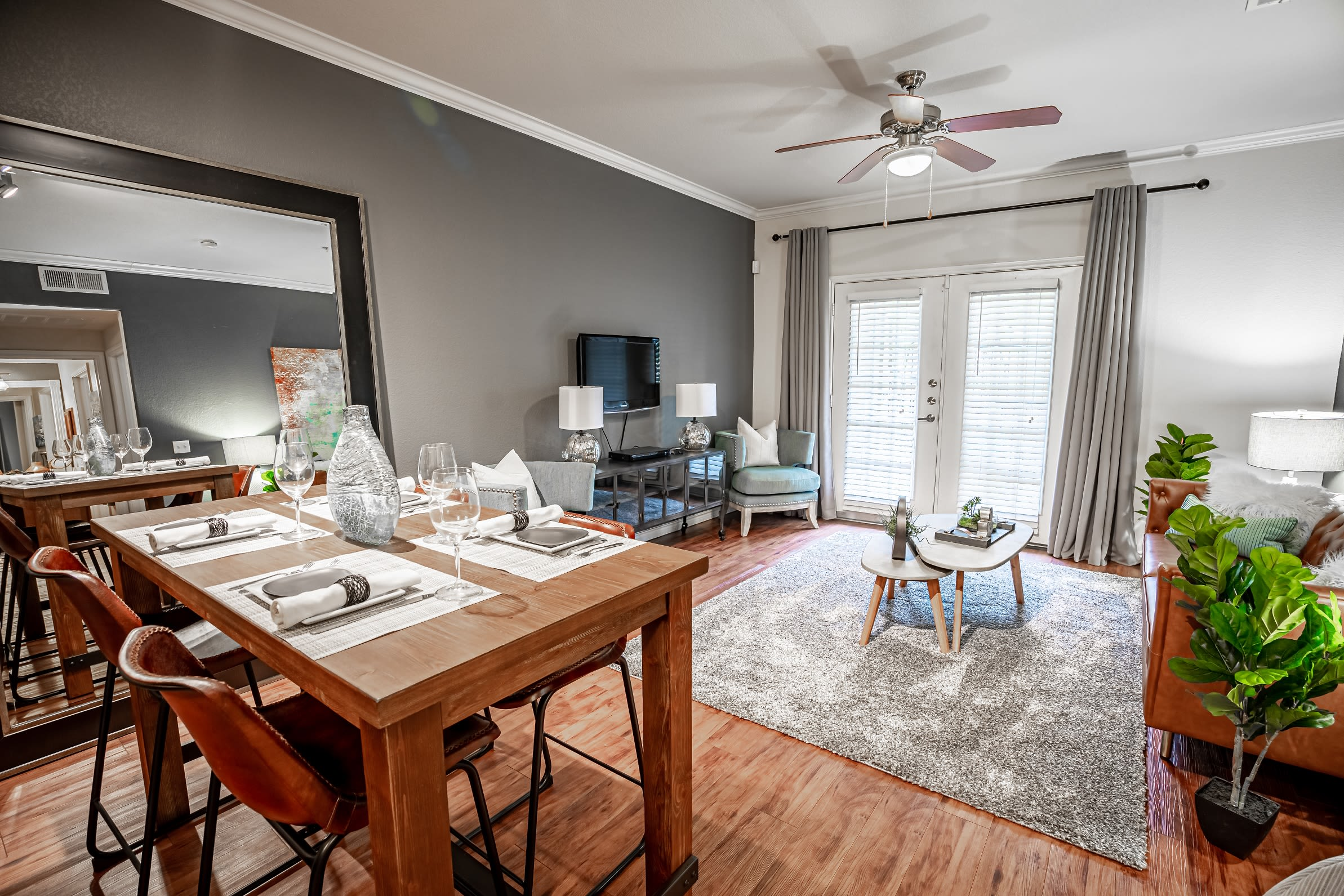 Beautiful breakfast nook in open concept floor plan at The Asten at Ribelin Ranch in Austin, Texas