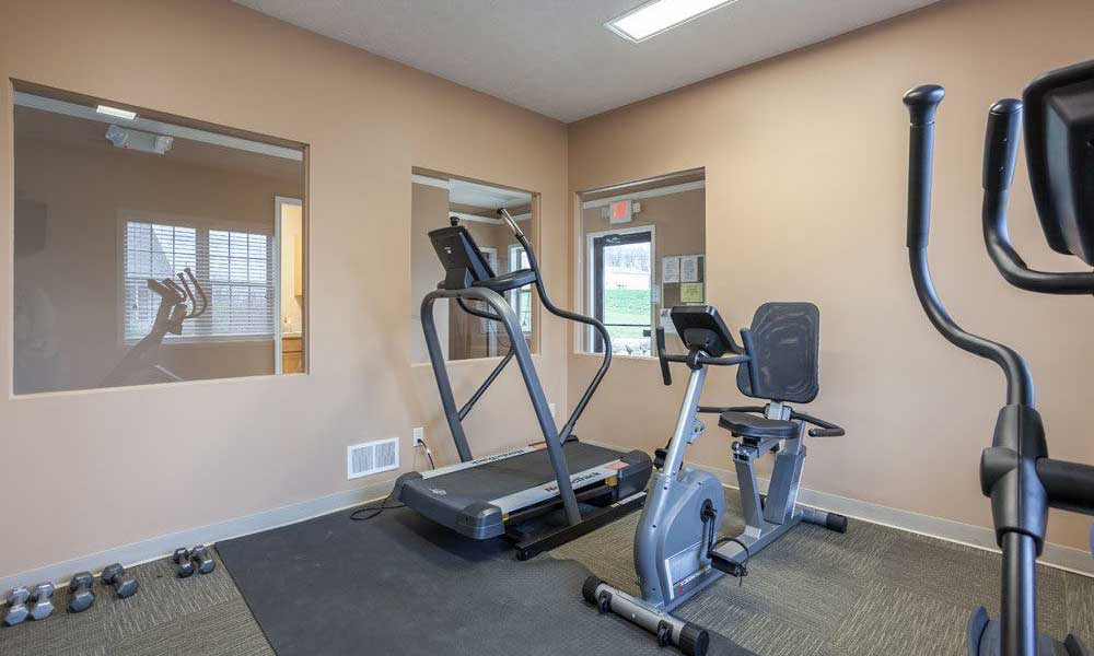 Fitness center at Hickory Hollow in Spencerport, New York