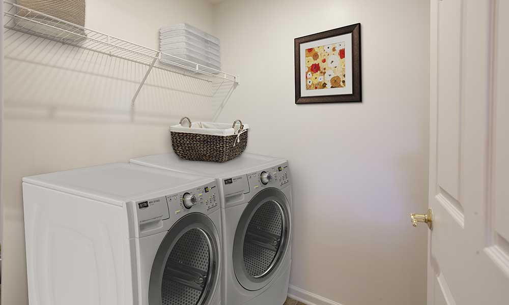 Laundry room at Hickory Hollow in Spencerport, New York