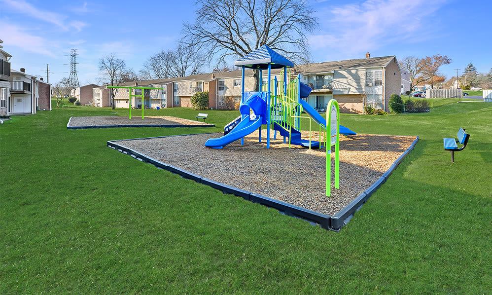 Modern playground at Sherry Lake Apartment Homes in Conshohocken, Pennsylvania