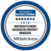 Northeast Florida Residential Property Managers award given to WRH Realty Services, Inc